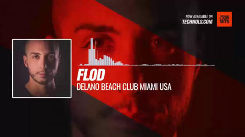 #Techno #music with FLOD - Delano Beach Club Miami USA #Periscope