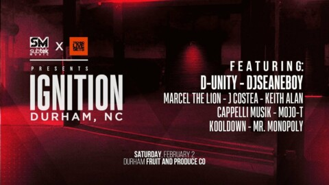 Techno Live Sets x Subtek presents Ignition Durham NC with D Unity and more