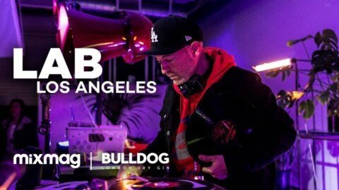 Peanut Butter Wolf vinyl set in The Lab LA